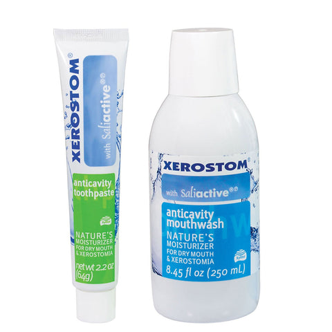 Xerostom Drymouth Anticavity Mouthwash and Toothpaste Pack