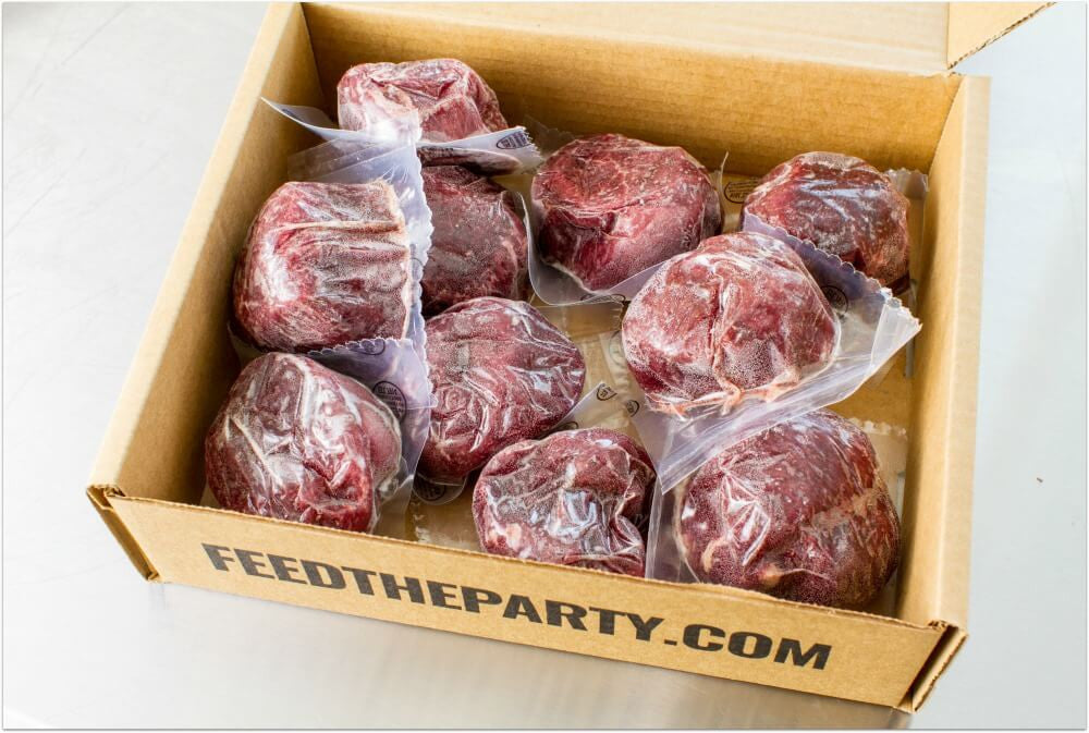 filet mignon in box