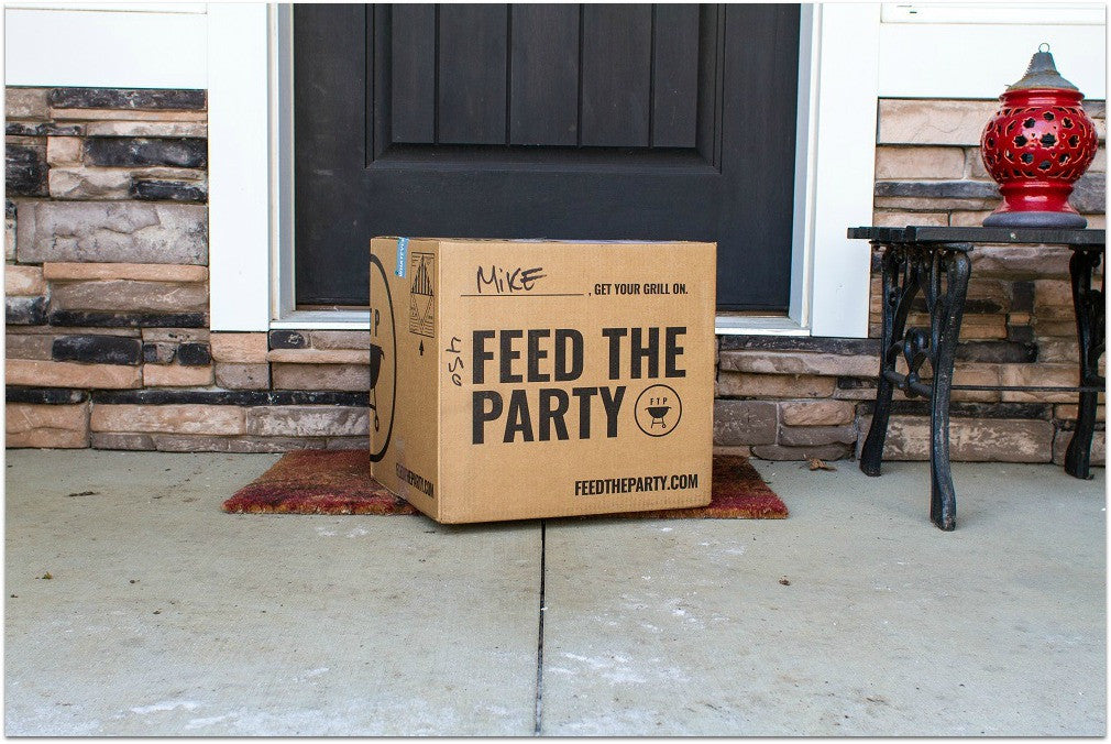 feed the party box at your front door