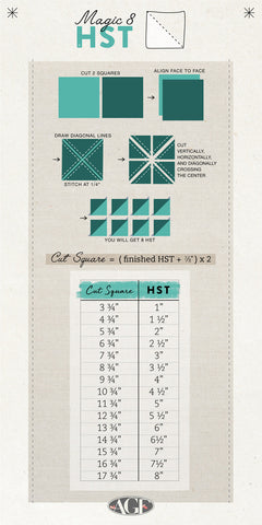 Quilters Cheat Sheet Magic 8 HST