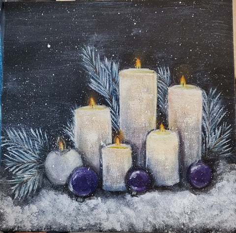 Christmas Candle Painting Inspiration