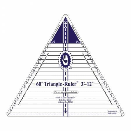 "12"" Triangle Ruler (60 degree) - The Artisans Gifting Company /Quilts"