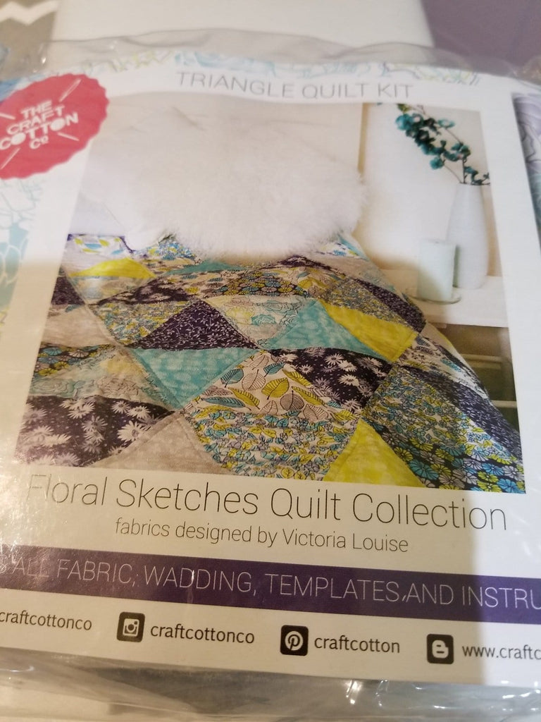 The Craft Cotton Company Triangle Quilt Kit - The Artisans Gifting Company