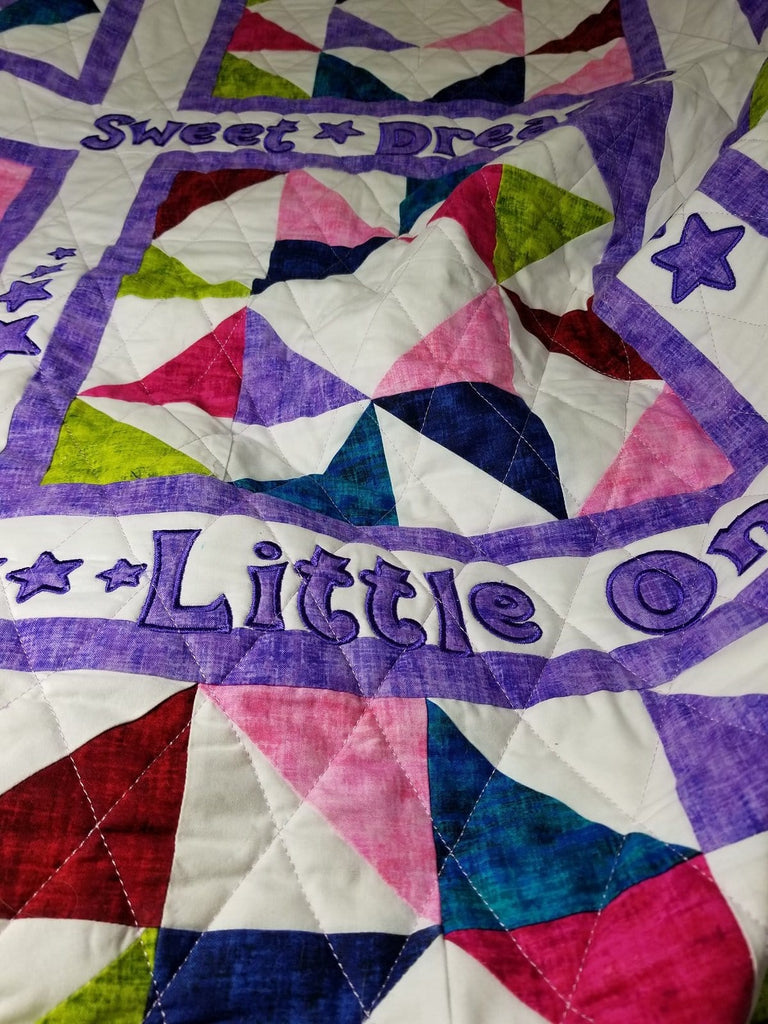 Handcrafted Sweet Dreams Toddler Size Quilted Blanket. - The Artisans Gifting Company