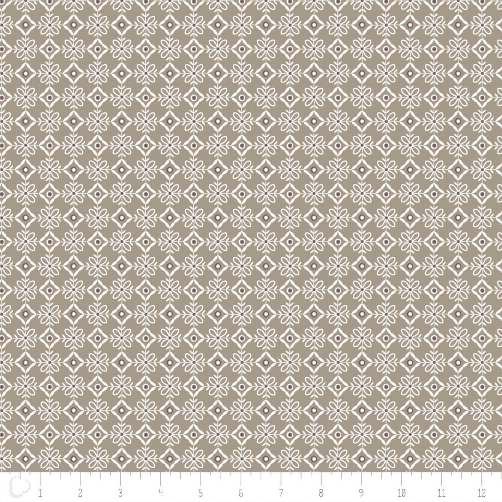 Cotton-Olivia Collection- Lattice in Light Taupe - The Artisans Gifting Company /Quilts