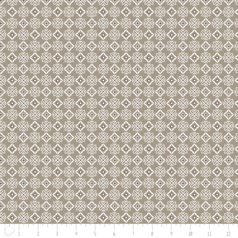 Camelot Design Studio Fabric by the Metre Lattice in Light Taupe - Fabric by the Metre