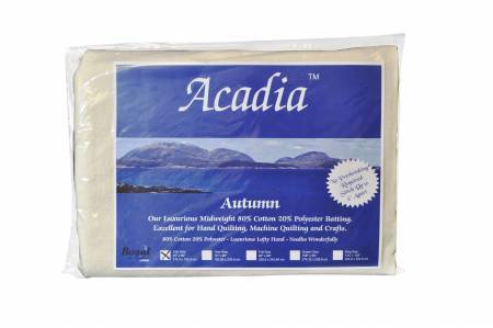 Bosal Batting Acadia Premium 80/20 Cotton Polyester Batting 4 oz Crib Size Batting