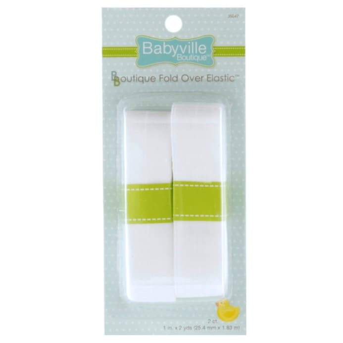 Babyville Boutique Fold Over Elastic White - The Artisans Gifting Company /Quilts