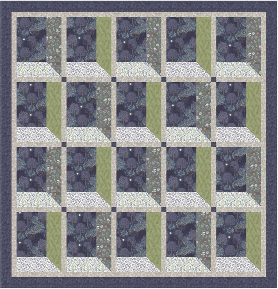 Bluebell Wood Free Downloadable Quilt Pattern - The Artisans Gifting Company
