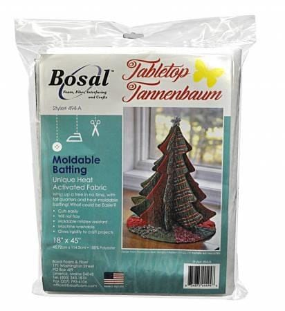 Bosal Batting Bosal Tabletop Tannenbaum Moldable Batting 18 x 45 inches