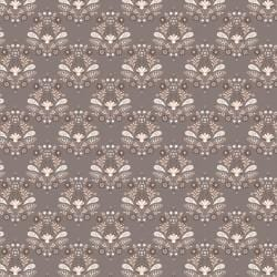 Cotton-Olivia Collection -Damask in Taupe - The Artisans Gifting Company
