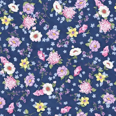 Denim Garden Variety - Fabric by the Metre - The Artisans Gifting Company /Quilts