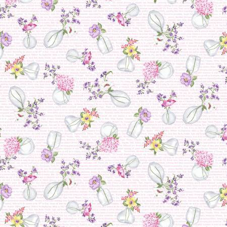 Micheal Miller Fabric by the Metre Pink Hand Picked - Fabric by the Metre