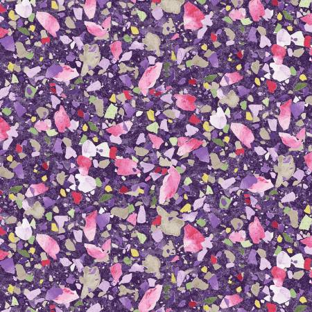 Grape Bedrock - Fabric by the Metre - The Artisans Gifting Company