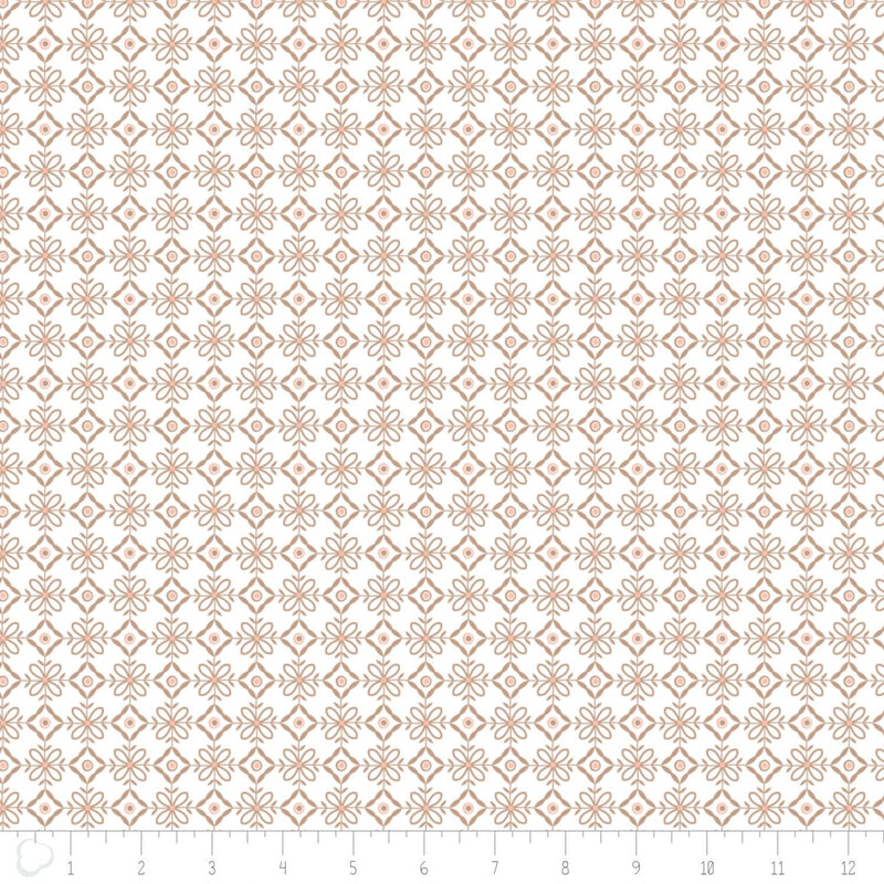 Camelot Design Studio Fabric by the Metre Lattice in Brown Sugar Fabric by the Metre