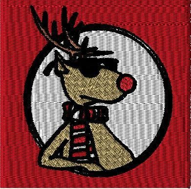 The Artisans Gifting Company Digital Embroidery Design Cool Reindeer Machine Embroidery Design