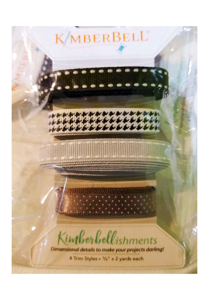 Kimberbellishments Black and Grey Ribbon - The Artisans Gifting Company /Quilts
