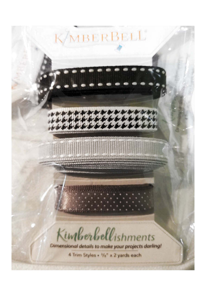 Kimberbellishments Black and Grey Ribbon - The Artisans Gifting Company