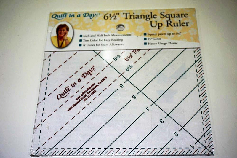 "Quilt A Day Rulers and Templates Quilt in a Day 6/12"" Triangle Square Up Ruler"