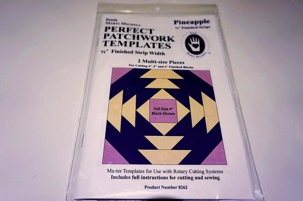 Pineapple Block Perfect Patchwork Templates - The Artisans Gifting Company /Quilts