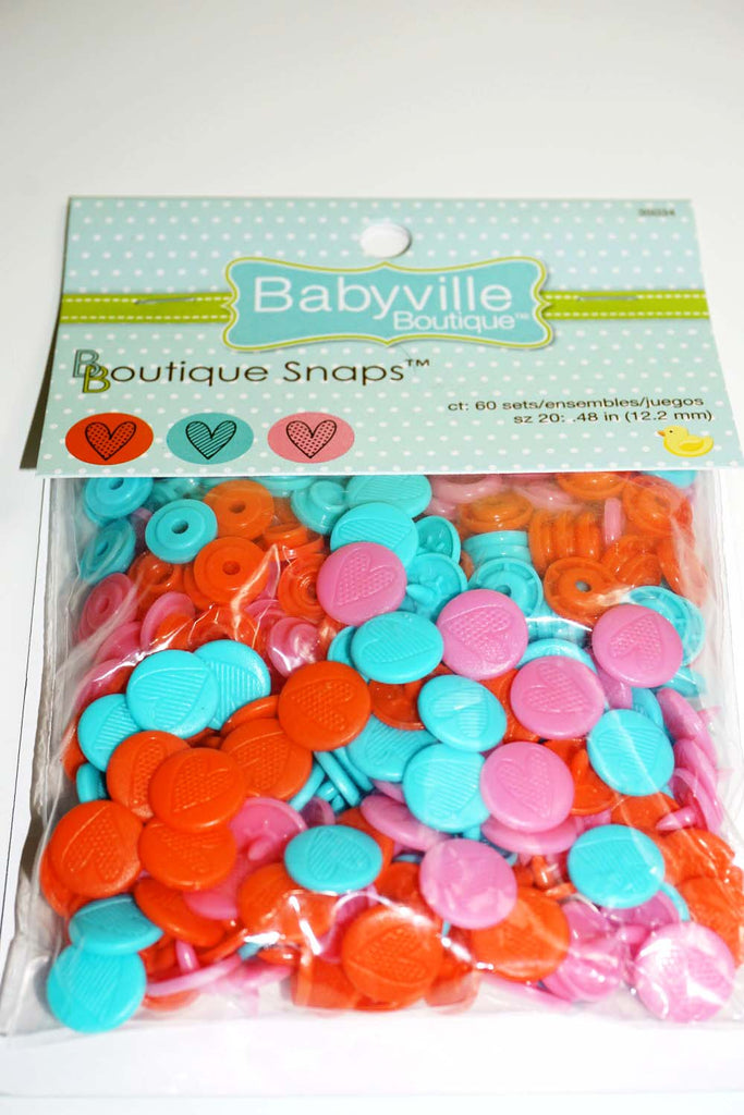 Babyville Boutique Heart Boutique Snaps - The Artisans Gifting Company /Quilts
