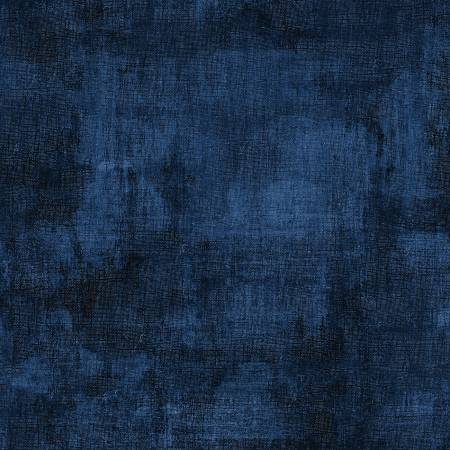 Willmington Prints Fabric by the Metre Half Metre Dark Denim Dry Brush Fabric by the Metre