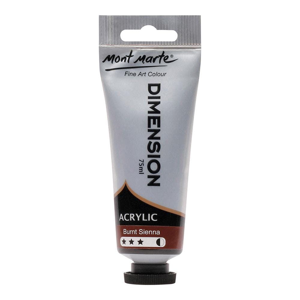 MONT MARTE Dimension Acrylic Paint - 75ml - Burnt Sienna - The Artisans Gifting Company