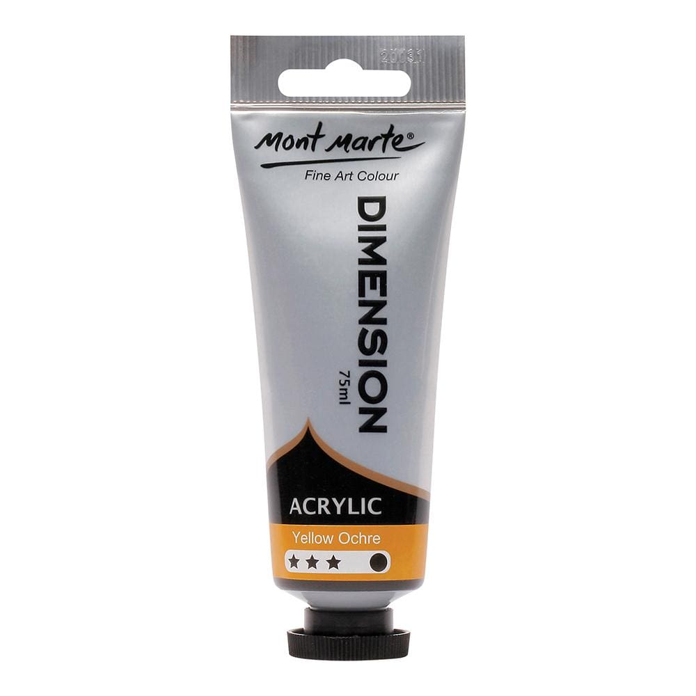 MONT MARTE Dimension Acrylic Paint - 75ml - Yellow Ochre - The Artisans Gifting Company