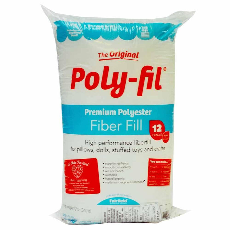 Fairfield Filler Poly-Fil Premium Polyester Fiber Fill 340g 12 oz