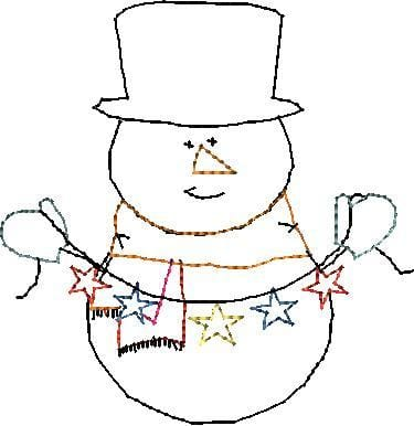 Frosty Machine Embroidery Design - The Artisans Gifting Company