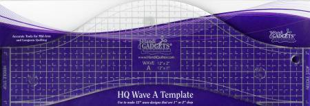 "HQ Wave Ruler A Template 12"" - The Artisans Gifting Company /Quilts"