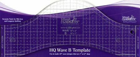 "HQ Wave Ruler B Template 10"" - The Artisans Gifting Company /Quilts"