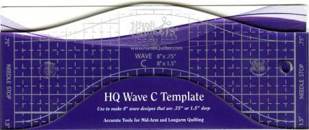 "HQ Wave Ruler C Template 8"" - The Artisans Gifting Company"