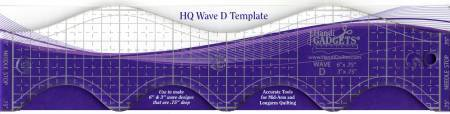 "HQ Wave Ruler D Template 6"" and 3"" - The Artisans Gifting Company /Quilts"