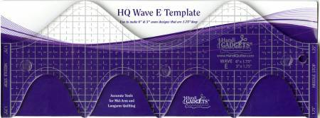 "HQ Wave Ruler E Template 6"" and 3"" - The Artisans Gifting Company /Quilts"