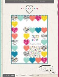 Art Gallery Fabric Free Download Pattern Heartsome by Art Gallery Fabric
