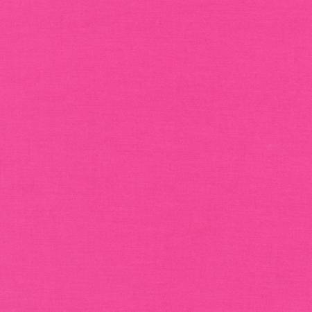 Kona by Kaufman Cotton Solid - Bright Pink - The Artisans Gifting Company