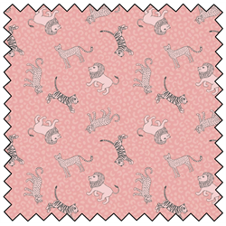 Lewis and Irene Fabric by the Metre Little Big Cats