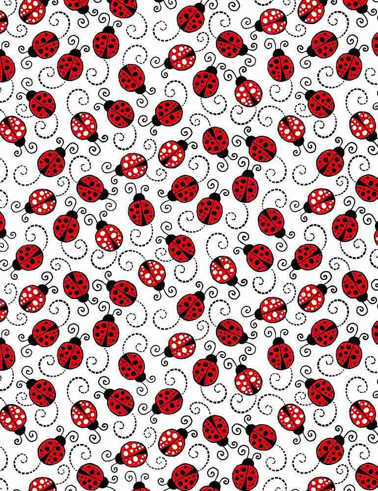 Timeless Treasures Fabric by the Metre Malf Metre Little Red Lady Bug - Fabric by the Metre