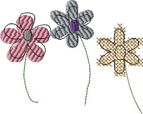 Free Mixed Flowers Machine Embroidery Design - The Artisans Gifting Company