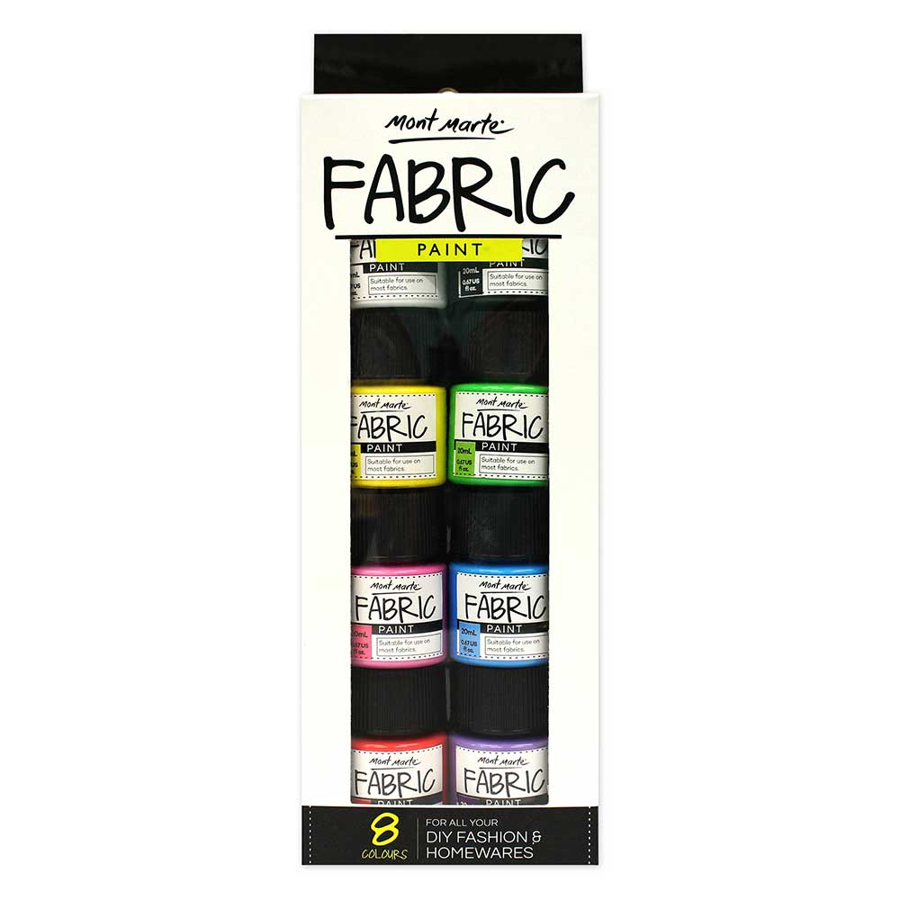 Monte Fabric Paint Set 20 ml each 8 Colours - The Artisans Gifting Company