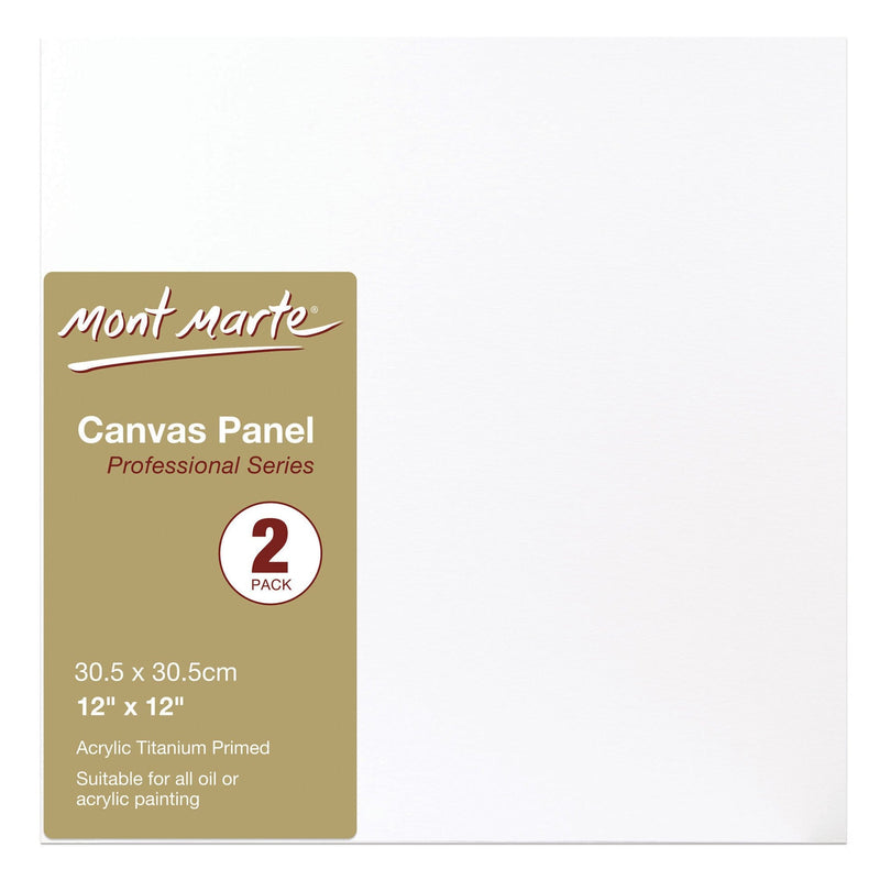 Monte Marte Painting Canvas MONT MARTE Canvas Panels 12″ x 12″ (30.5 x 30.5cm) - 2pcs