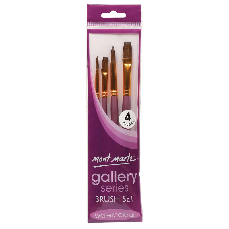 Monte Marte Brushes MONT MARTE Gallery Series Brush Set Watercolours - 4pcs