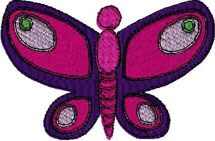 Multi-Color Butterfly Machine Embroidery Design - The Artisans Gifting Company