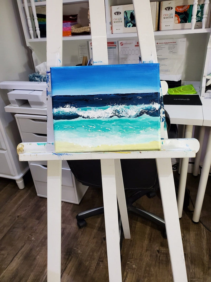 The Artisans Gifting Company Painting Ocean View - Original Acrylic Painting on Stretched Canvas