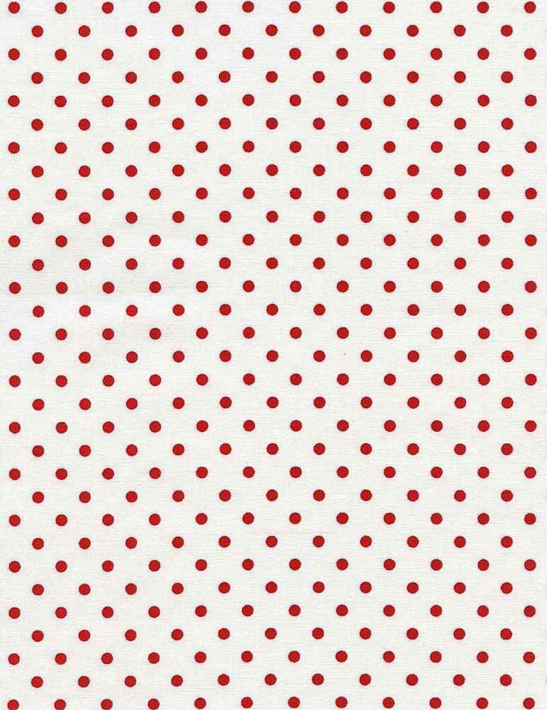 Timeless Treasures Fabric by the Metre Malf Metre Basics Polka Dot - Cherry Fabric by the Metre
