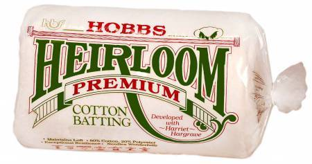 HOBBS Batting Heirloom Batting - Premium Cotton Blend Queen Size (90 x 108)