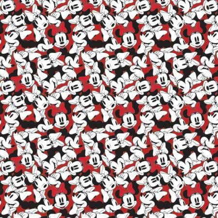 Camelot Design Studio Fabric by the Metre Half Metre Red Disney Minnie Mouse Tossed Stack