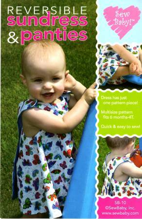 Sew Baby Sewing Pattern Reversible Sundress and Panties Sewing Pattern