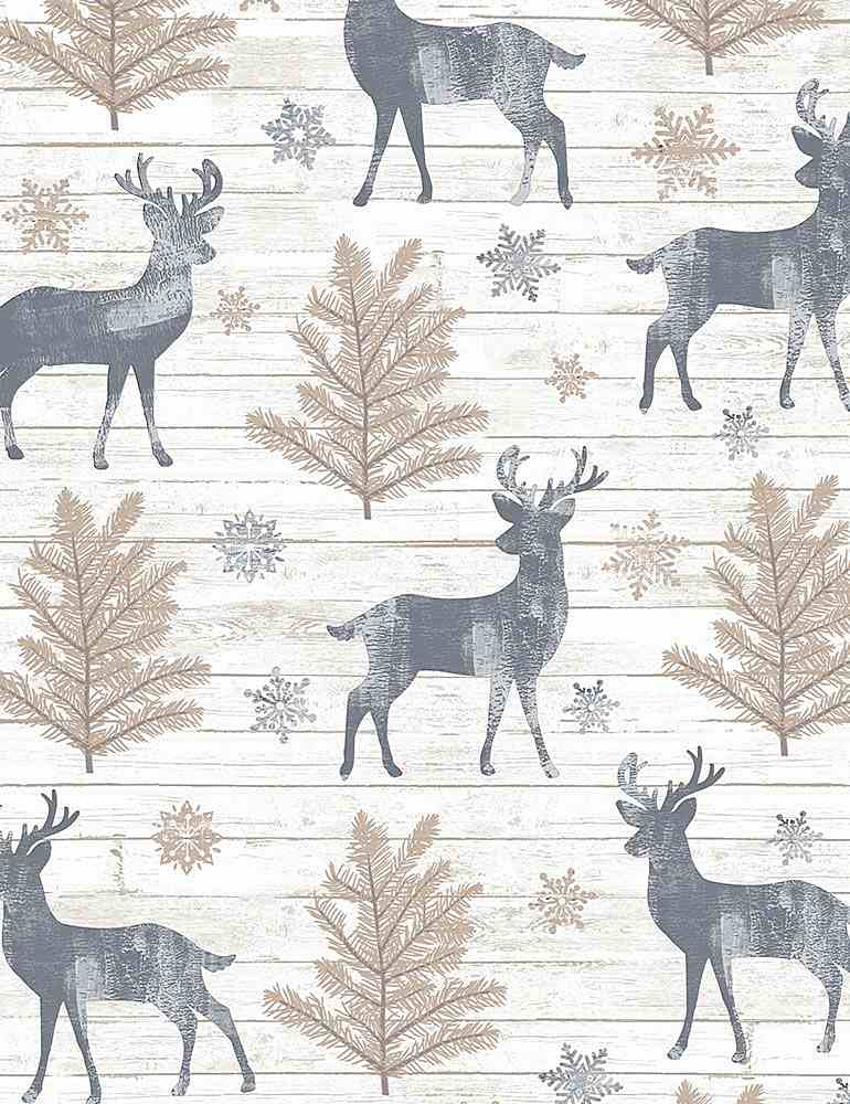 Rustic Reindeer Cotton Flannel - The Artisans Gifting Company